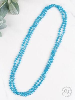 Frosty Blue Beads