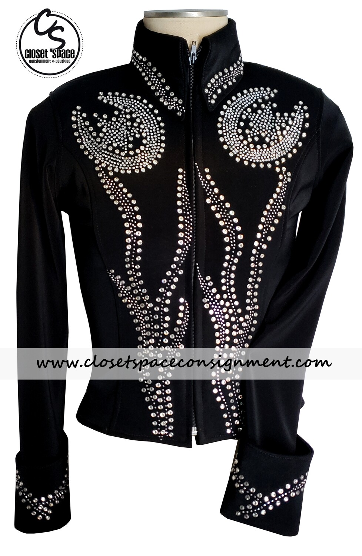 'Show Diva' Black & Silver Horseshoe Jacket