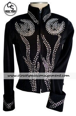 ​'Show Diva' Black & Silver Horseshoe Jacket