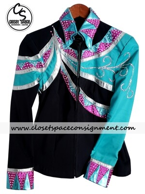 ​Black, Turquoise, Pink & Silver Jacket
