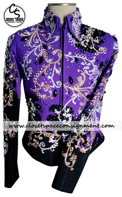 ​'Wood's' Black & Purple Jacket