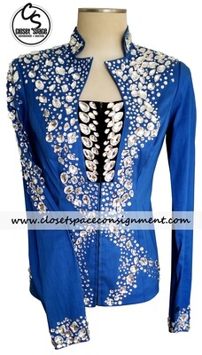​'Showtime' Blue Stoned Jacket