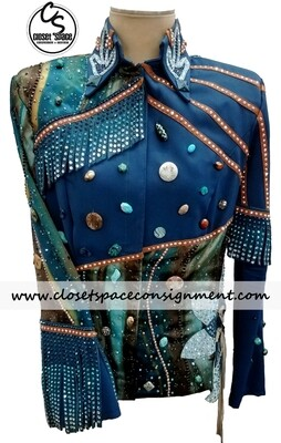 ​'Totally Outfitted' Turquoise Fringe Jacket
