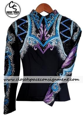 'Dawn Haas Myers' Black, Purple & Blue Top