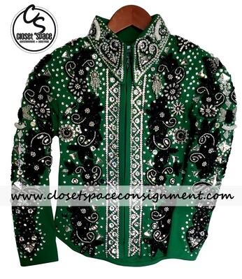 'Cachet Cowgirl Collection' Green & Black Showmanship Set