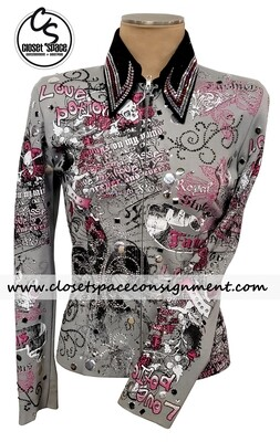 ​'Show Fancy' Black, Gray & Pink Jacket