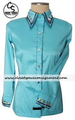 'Wicked Crystals by Christie' Teal All Day Shirt - NEW