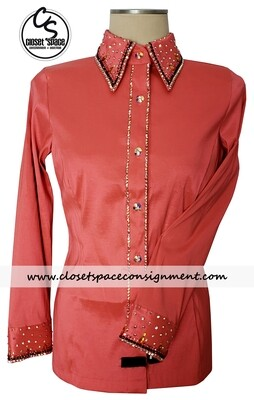 'Wicked Crystals by Christie' Coral All Day Shirt - NEW