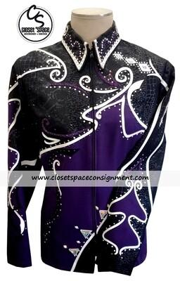 'Tandy Jo' Black, Purple & White Showmanship Set