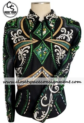 'Dawn Haas Myers' Black, Green, Gold & Silver Jacket