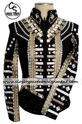 'DKJ Designs' Black, Gold & White Jacket