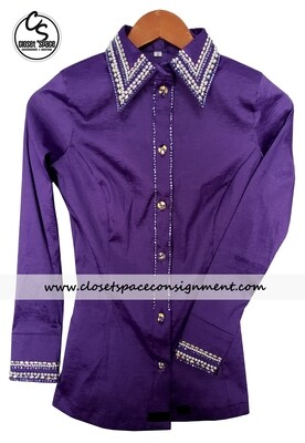 'Wicked Crystals by Christie' Purple All Day Shirt - NEW