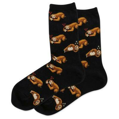 Women's Black Sloth Socks