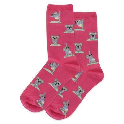 Women's Magenta Koala Socks