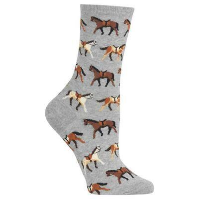 Women's Gray Horses Socks