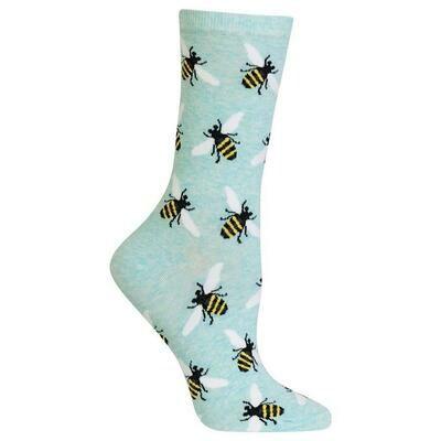 Women's Green Bee Socks