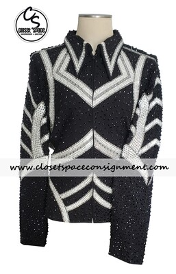'Tandy Jo' Black, White & Gray Jacket