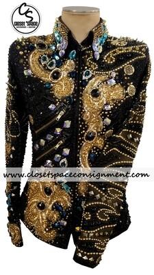 'Trudy' Black & Gold Jacket