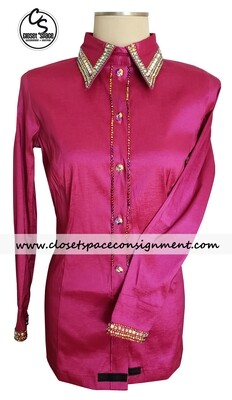 'Wicked Crystals by Christie' Fuchsia All Day Shirt - NEW