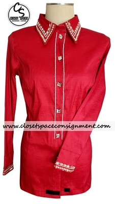 'Wicked Crystals by Christie' Red All Day Shirt - NEW