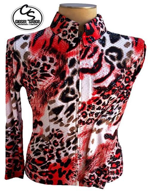 Red, White & Black Animal Print Jacket