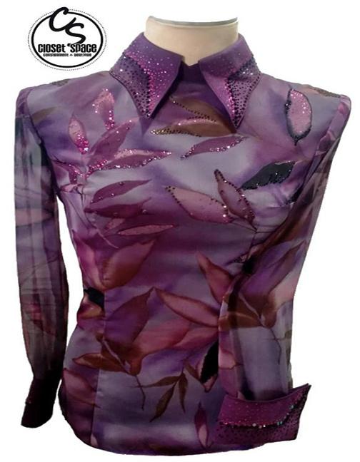   'Shari Voeltz' Purple Leaf Horsemanship Top