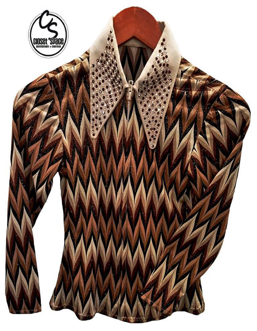 Cream, Tan & Black Shirt w/cuffs 3KC2