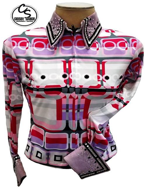 'Kevin Garcia' White, Pink & Lilac Shirt KF9
