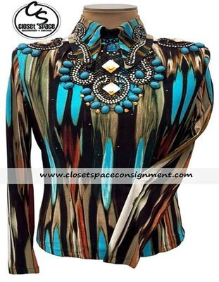'Invested' Black, Brown & Turquoise Top