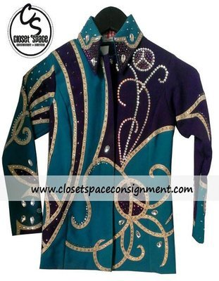 'Totally Outfitted' Turquoise & Purple Showmanship Set
