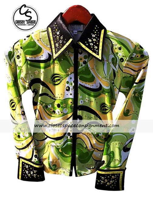 'Hobby Horse' Green, Black & Yellow Shirt