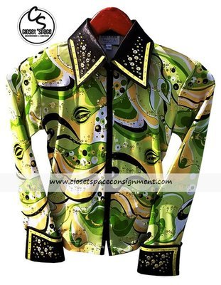 'Hobby Horse' Green, Black & Yellow Shirt