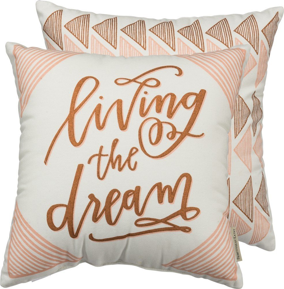 'Living The Dream' Pillow 2-130