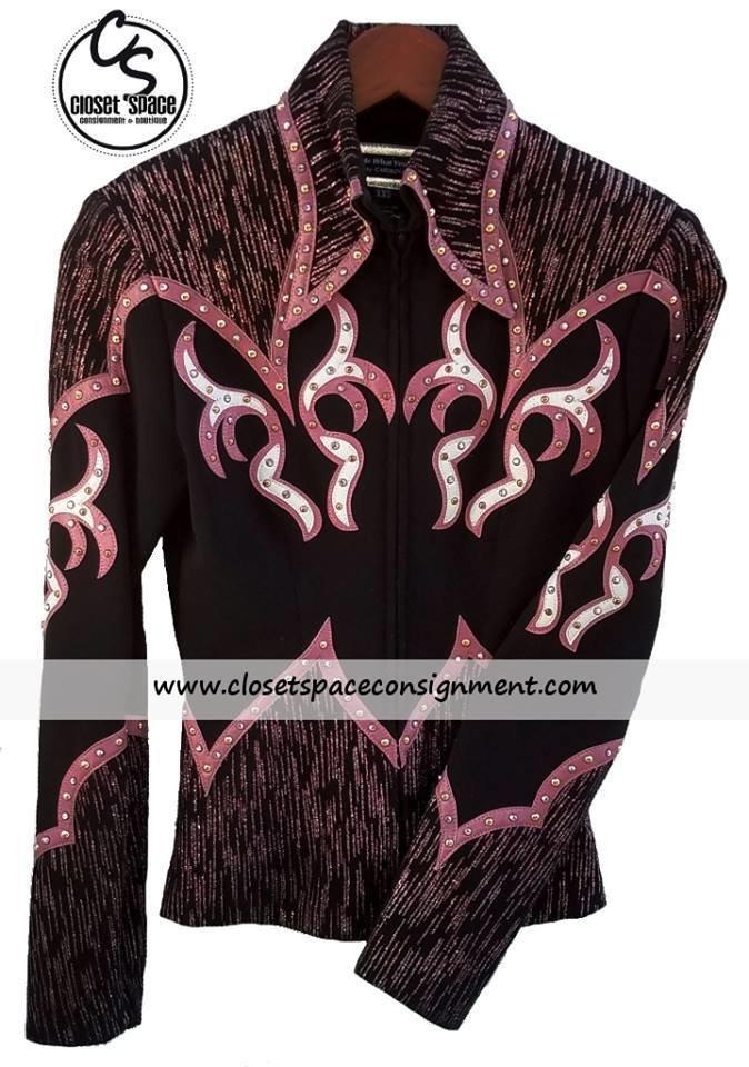 'Carolina' Black & Pink Jacket