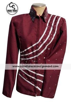 'Sparkling Show Clothes' Burgundy & Silver Showmanship Set