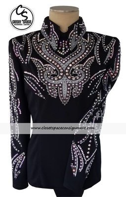 'Signature Styles' Black & Gray Top - NEW