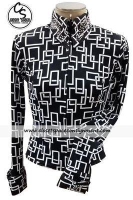 'Show Diva' Black & White Squares Shirt