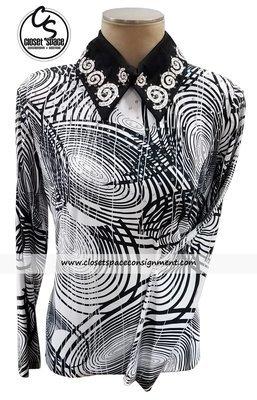 Black & White Swirl Top