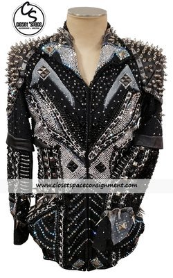 ​Black & Silver Spike & Chain Jacket