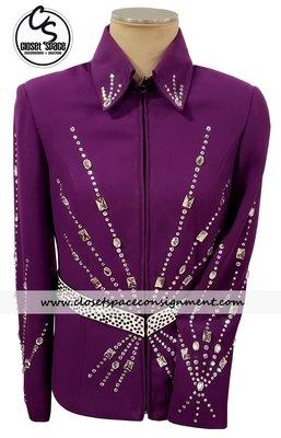 'Roe House Creations' Purple & White Showmanship Set