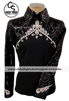 'Wicked Crystals by Christie' Black & Silver Top - NEW