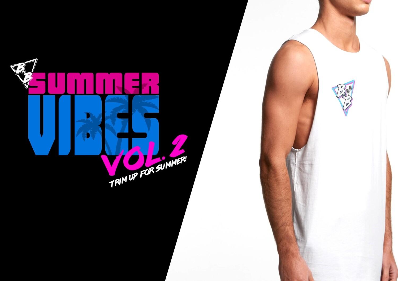BNB SUMMER VIBES WHITE SINGLET (unisex)