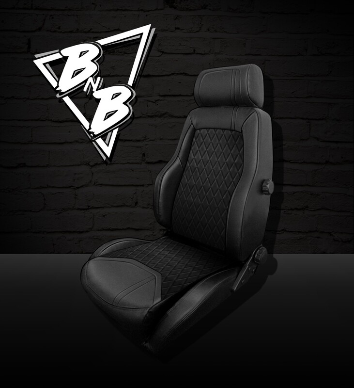 BNB 'TIMELESS' Damond Leather Electric Front Seat PAIR