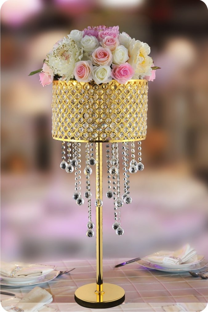 Crystal World K001 14 Quot Gold Centerpieces New Products