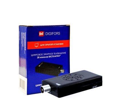 Цифровой Приемник (тюнер) Ресивер Приставка для цифрового эфирного телевидения DVB-Т2   АвтоКит DIGIFORS HD Для автомобиля