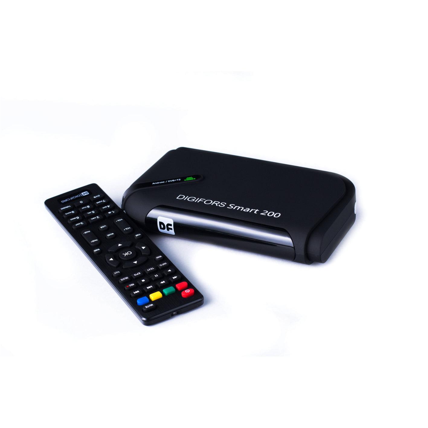 Цифровой Приемник (тюнер) Ресивер Приставка для цифрового эфирного телевидения DVB-Т2   DIGIFORS Мультимедиа ресивер DIGIFORS SMART200 Android 39