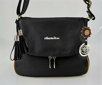 Bag Mod. Frida382 – Postaman Bag Leather Black