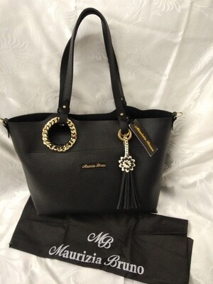 Shopper Bag Eco Leather FlowerMizzie Black