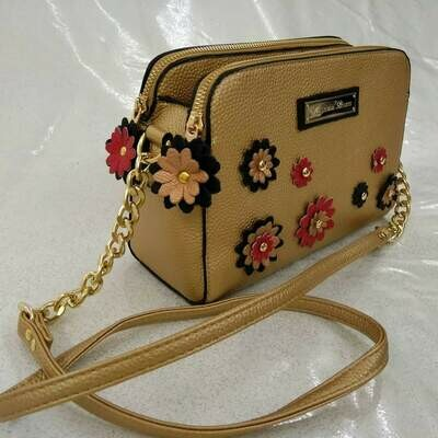 Crossbody Bag EMB218 Eco Leather color Bronze