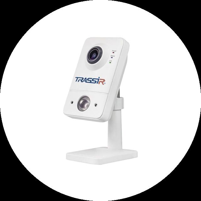 TRASSIR TR-D7121IR1W (2.8 мм) с Wi-Fi модулем и ИК-подсветкой